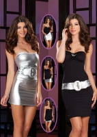 7326 Dreamgirl Clubwear, Quick Change double layer dress. Transitions
