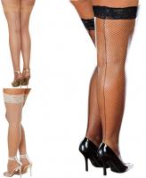 0001X Dreamgirl, Plus Size Fishnet Thigh High Stockings