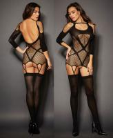 0228 Dreamgirl, Architectural, semi-sheer garter dress
