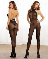 0267 Dreamgirl, Semi-sheer halter bodystocking