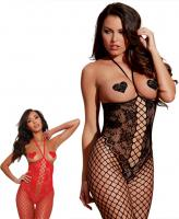 0268 Dream girl, Open-cup bodystocking