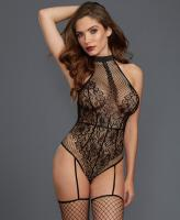 0333 Dreamgirl Fishnet lace teddy bodystocking