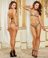 10149 Dreamgirl, Leopard printed stretch lace trim