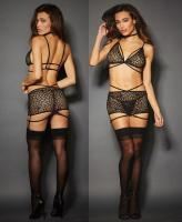 10546 Dreamgirl, stretch lace garter set