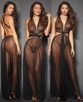 10593 Dreamgirl, Sheer mesh Grecian gown