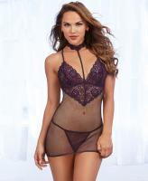 11840 Dreamgirl lace fishnet chemise