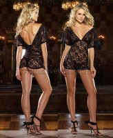 7926 Dreamgirl Lingerie, Stretch lace off the shoulder chemise with s