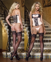 8064 Dreamgirl Corsets, Satin and lace overlay strapless corset with