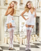 9743 Dreamgirl, Stretch lace halter babydoll