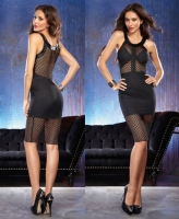 9783 Dreamgirl, Large fishnet dress microfiber cup and skirt lining