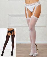 0013 Dreamgirl Sheer garter belt pantyhose