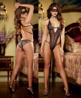 7993 Dreamgirl black lace teddy