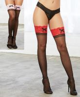0026 Dreamgirl Sheer thigh high