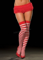 5215 Dreamgirl Stockings,  Pipi Thigh High, Striped sheer thigh h