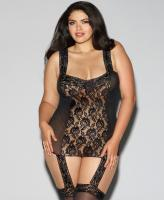 0144X Dreamgirl Sheer lace garter dress