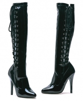 Fierce Ellie Boots, 5 inch high heels Zipper Knee High  Boots