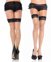 1929Q Leg Avenue, Polka dot spandex sheer thigh highs