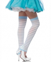 3908 Leg Avenue, Opaque striped leg warmers
