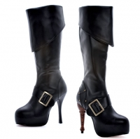 5026 Jollyroger Leg Avenue Shoes, 5 Inch Peg Leg High Heel Knee High