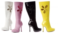 5029 Lovechild Leg Avenue Shoes, 4.5 Inch Heels Pump Knee High Platfo