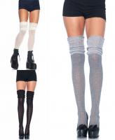 6906 Leg Avenue, Acrylic pointelle over the knee scrunch sock.