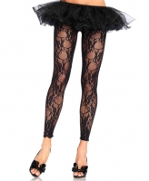 7888 Leg Avenue, Floral lace footless tights