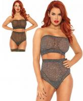 81571 Leg Avenue strapless top high waist brazilian