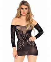 86161 Leg Avenue off the shoulder lace dress