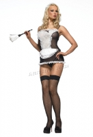 87005 Leg Avenue  Lingerie, Naughty maid, includes sheer baby