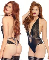 89213 Leg Avenue lace halter teddy