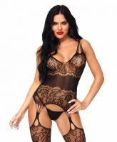 89215 Leg Avenue lace suspender bodystocking