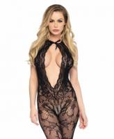 89221 Leg Avenue Lace keyhole bodystocking