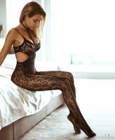 89235 Leg Avenue halter lace bodystocking