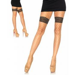 9913 Leg Avenue Diamond net tights faux thigh