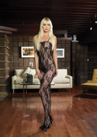 8743 Leg Avenue Body stocking,  spaghetti strap rose lace bodysto