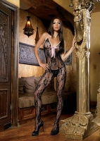 89013 Leg Avenue Body stocking,  rose lace bodystocking.