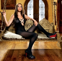 89033 Leg Avenue  Body stocking, opaque bodystockings with criss