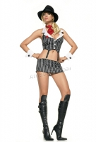 53006 Leg Avenue Costume,  mafia mama costume includes pin stripe
