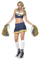 53027 Leg Avenue Costume,  school spirit costume includes cropped