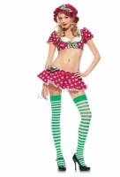 53070 Leg Avenue Costumes,  Costume, 4 pc raspberry tart costume,