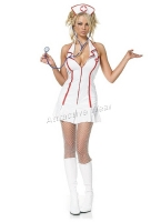 83050 Leg Avenue Costume, head nurse costume, Halter zipper front min