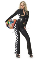 83119 Leg Avenue Costume,  speed demon Costume, zipper front jump