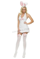 83257 Leg Avenue Costume,  white bunny costume, includes plush ea