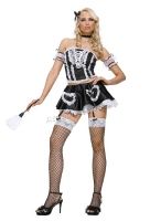 83316 Leg Avenue Costume, Fifi French maid costume includes lace ruff