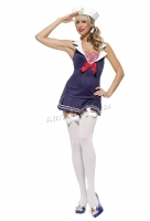 83324 Leg Avenue Costume, sailor cadet costume includes hat with patc