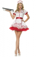 83334 Leg Avenue Costume, diner betty costume includes headpiece, pol