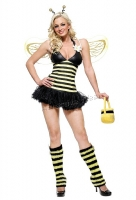 83343 Leg Avenue Costume,  daisy bee costume includes glitter hea