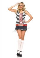 83375 Leg Avenue Costume, striped sailor costume includes hat and cor