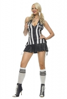 83412 Leg Avenue Costumes,  Costume, 3 pc half time referee costu