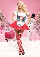 83472 Leg Avenue Costume,  Mistletoe Sweetheart, Includes a peasa